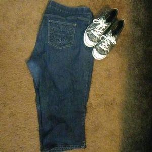 Lees style up capri pants